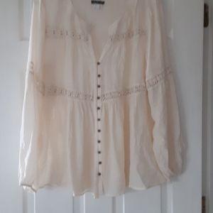 Womens beige top. Never worn.